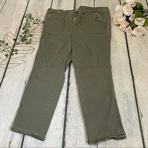 Torrid 16 olive green jeans straight leg plus size